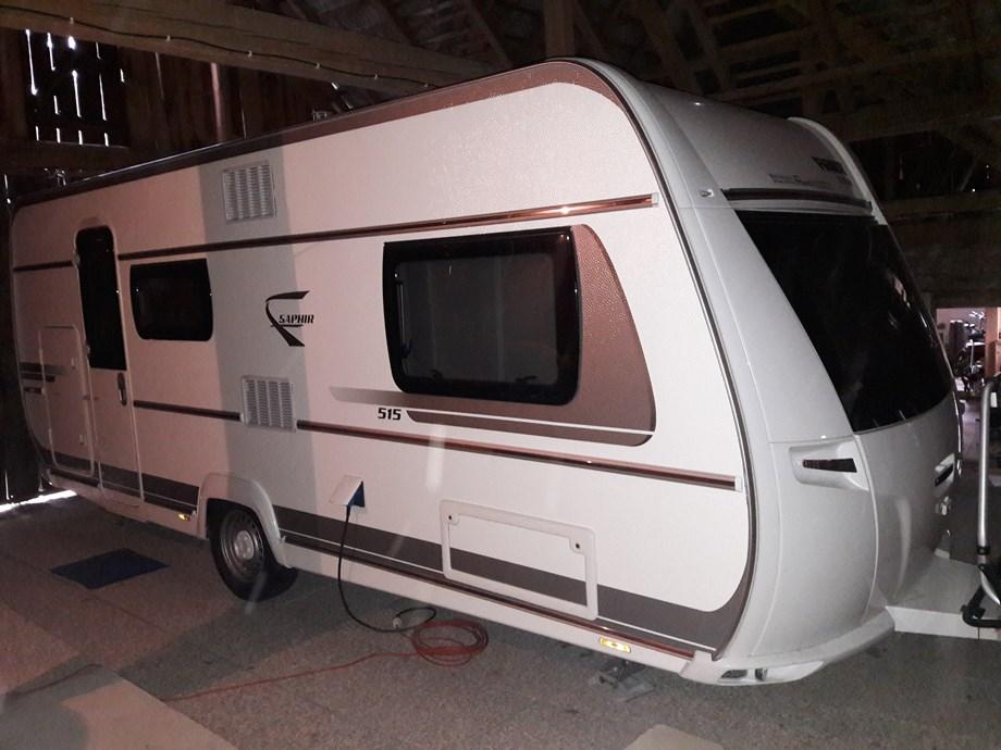 Wohnwagen Mit Etagenbett Fendt : Fendt saphir 515 skm mit mover fahrradträger außendusche caravan